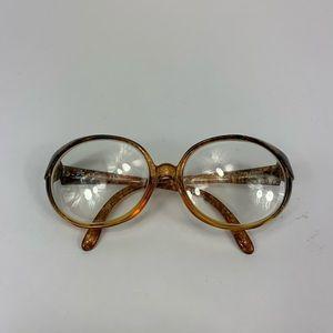 Christian Dior eyeglasses vintage mottled optyl